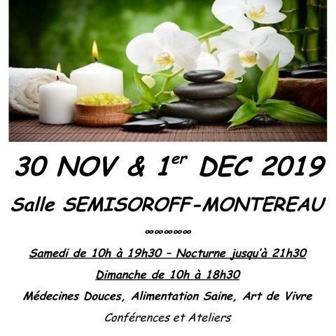 SALON DE MONTEREAU LE 30/11/19 ET LE 01/12/19